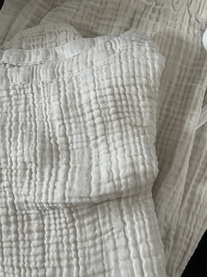 「UCHINO」クレープガーゼ レディスドルマンTシャツ