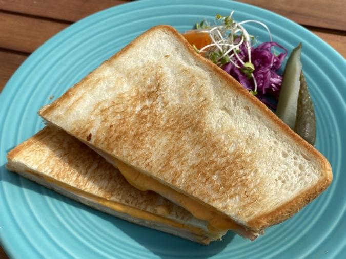 Bistro&cafe TIME(ビストロアンドカフェ タイム)モーニングプレート「クロックムッシュ」