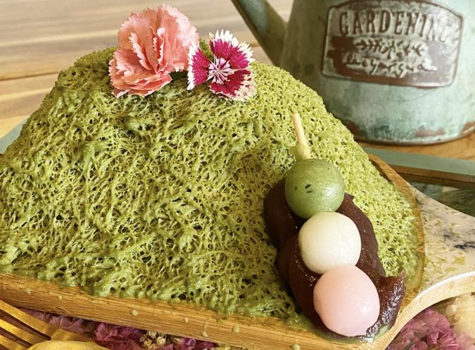 花カフェKOKIA(コキア) 糸かき氷 抹茶