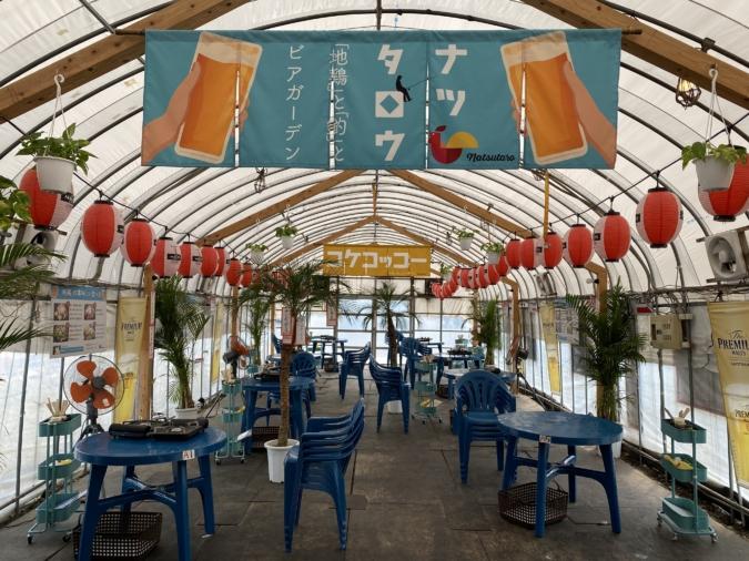 『牡蠣小屋 浜太郎』が夏の間は「ナツタロウ」として営業