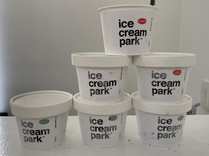 「ice cream park」カップアイス