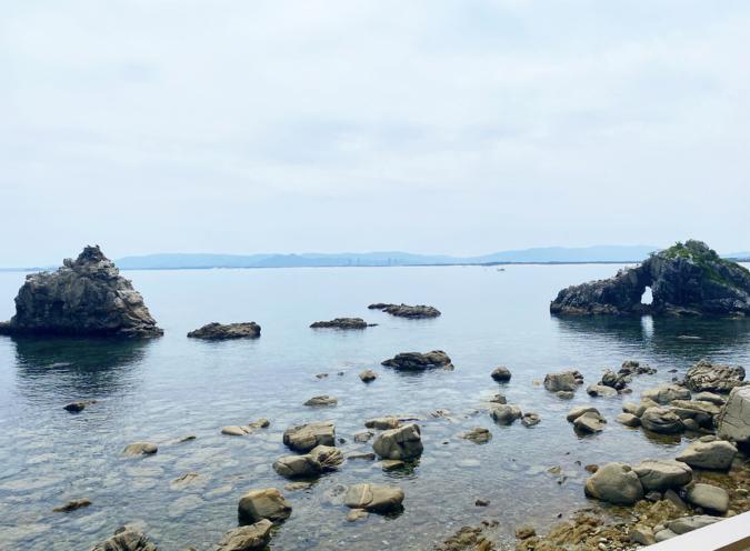 「志賀島ドッグ」の目の前は海