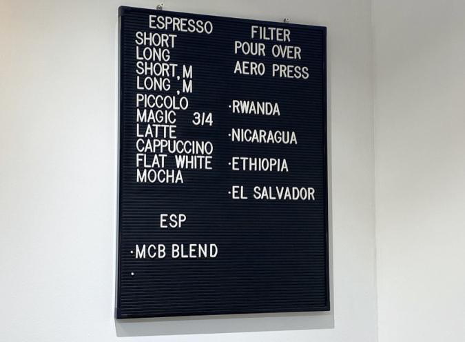 「Modoo's Coffee Brewers(モドゥコーヒーブリュワーズ)」コーヒーメニュー