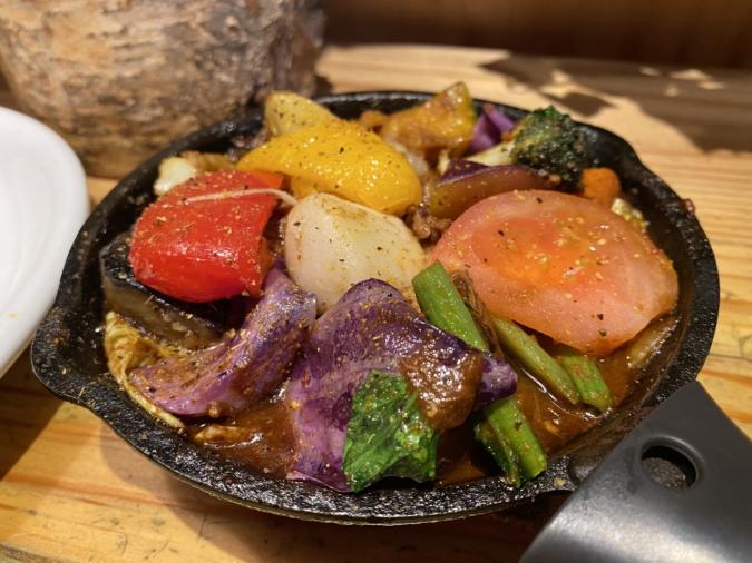 「野菜を食べるカレー camp」1日分の野菜カレー