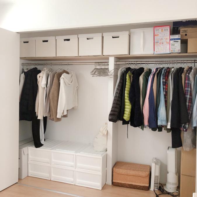 家の中に置いていい衣類の量を決めておく