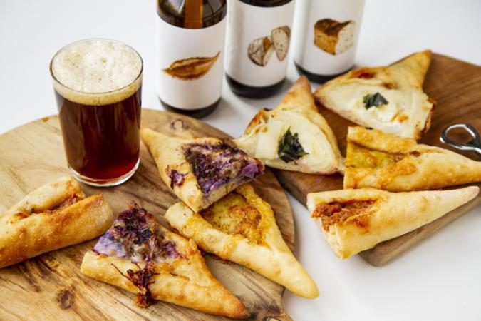 『ダコメッカ』バゲットピッツァとビール
