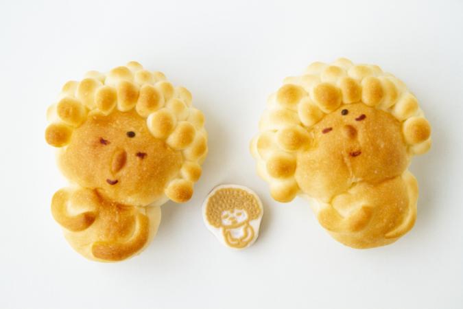 『ぺったん』大仏パンと消しゴムハンコ