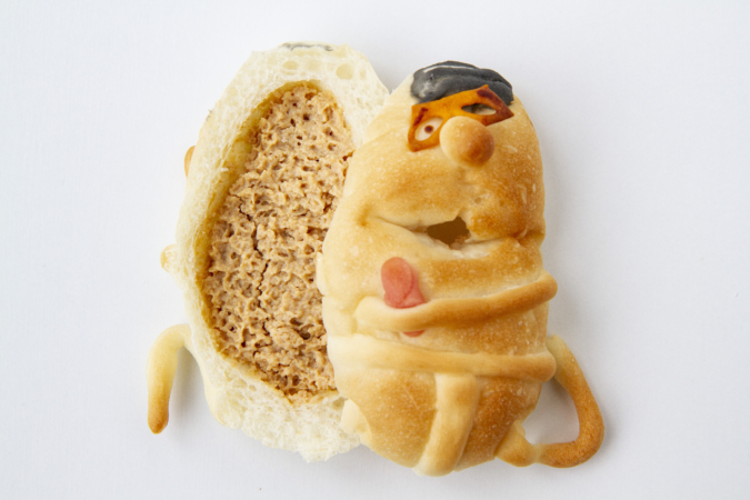 ぺったんのパン「おいさ」を割ってみると…