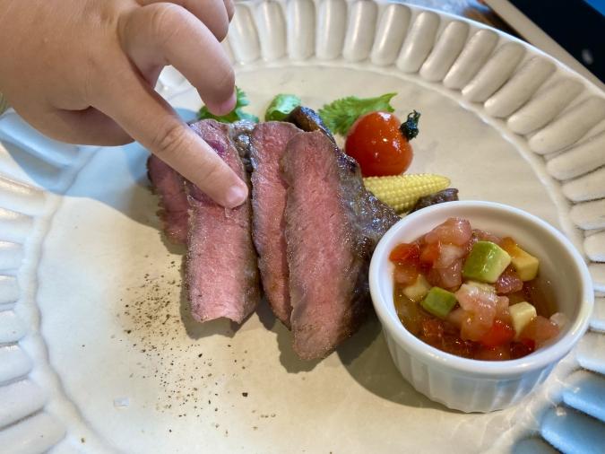 「MOMOTOSE久留米店」ランチコース牛サーロイングリエ