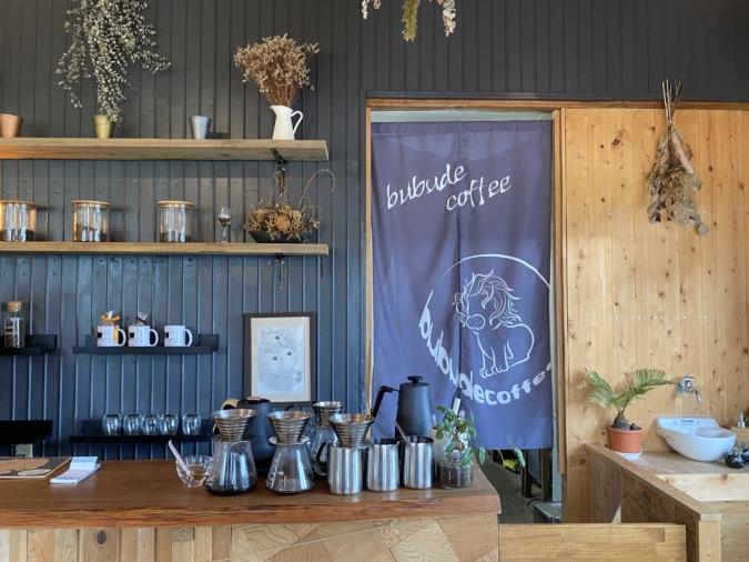 『bubude coffee(ブブデコーヒー)』店内装飾