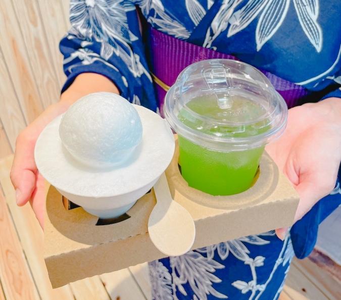 石村萬盛堂(いしむらまんせいどう) 本店限定スイーツ「つるのこのこ」お茶セット