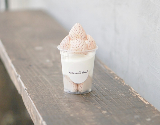 「dotto milk stand」白いちごソフト