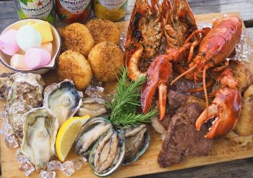 オマール海老&あわび 夏の豪華海鮮BBQコース