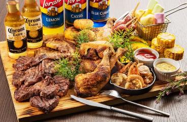 贅沢メガ盛りお肉3種BBQコース