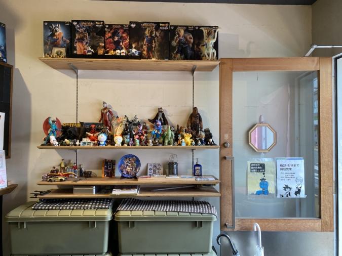 『area coffee』店内にはおもちゃがいっぱい