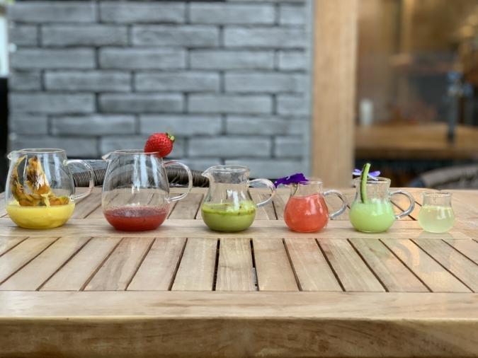 『coba cafe』フルーツ氷の手作りソースは5~6種類
