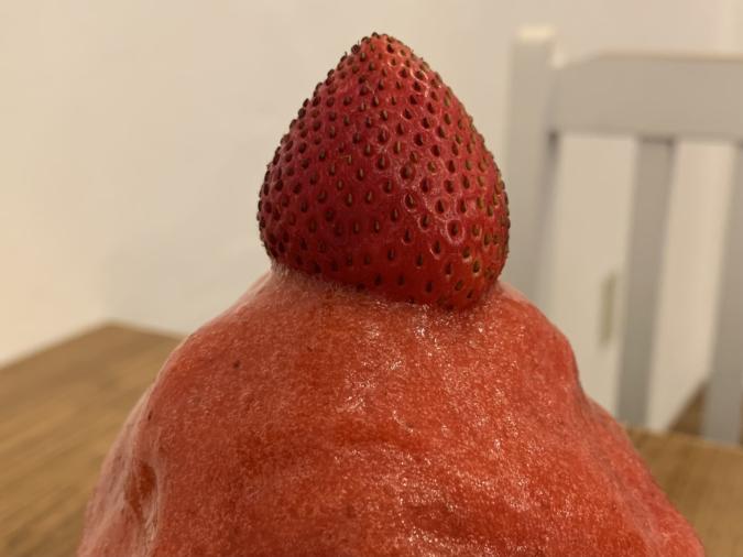 『ベツバラ。』かき氷「濃縮いちご」