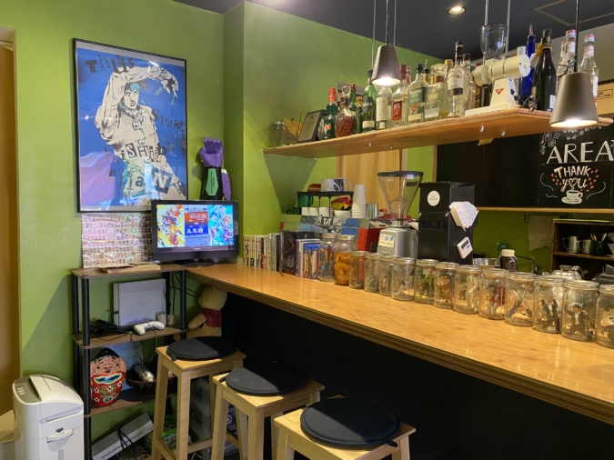 『area coffee』店内