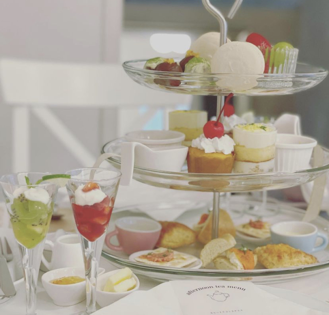 『Dopey Dopey cafe & afternoon tea』アフタヌーンティーセット