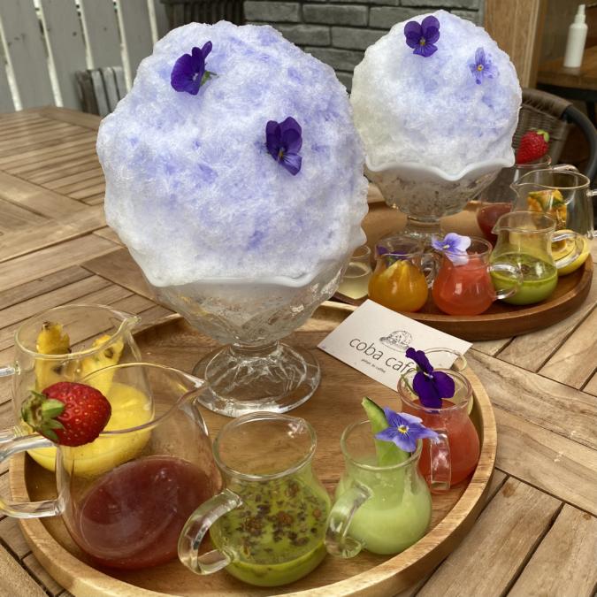 『coba cafe』フルーツ氷