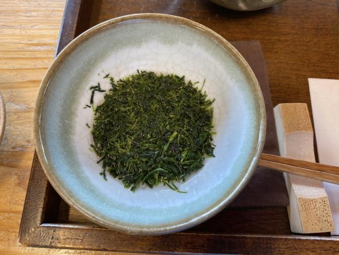「茶の文化館」しずく茶