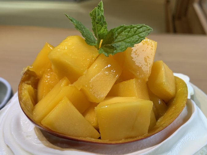 こおりやたから「果肉たっぷりマンゴーかき氷」マンゴーが絶品