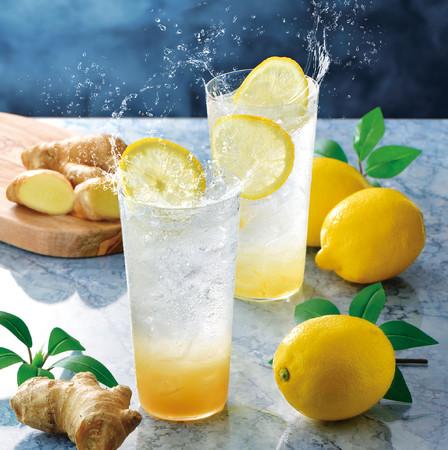 薫るジンジャーエール~国産生姜使用~、レモンスカッシュ~レモンピール入り~