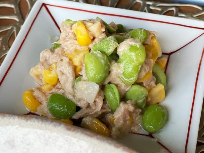 枝豆コーンのツナマヨサラダ