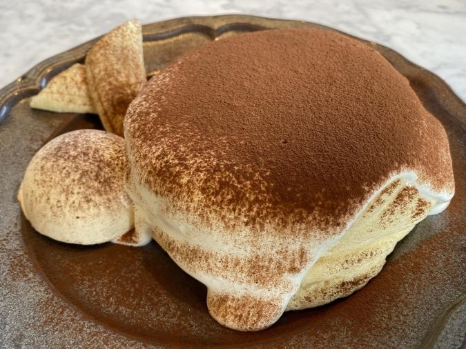 カフェCafe del SOL(デルソル)田川店 ふわふわパンケーキ HOTチョコレートソース