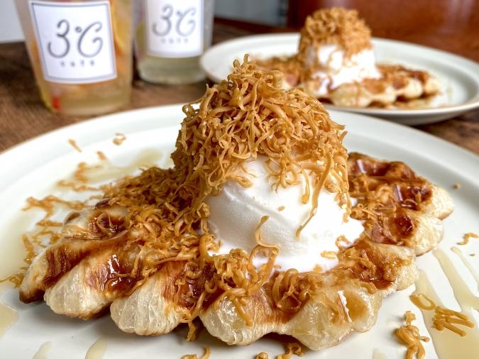 『3°C cafe(サンドウカフェ)』ブラウンチーズクロッフル