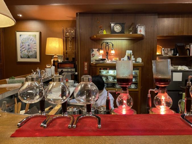 珈琲舎のだ 大名本店 サイフォン式コーヒー