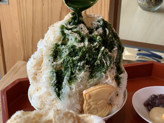 &Locals かき氷 抹茶