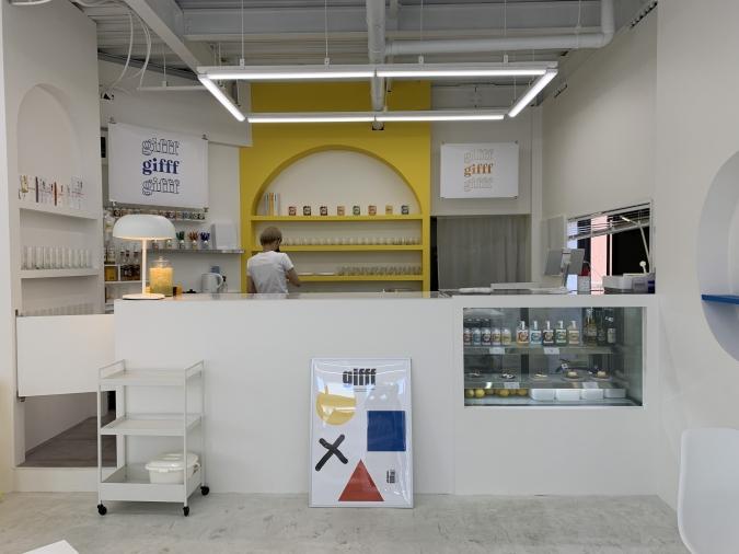 韓国カフェ『gifff』店内
