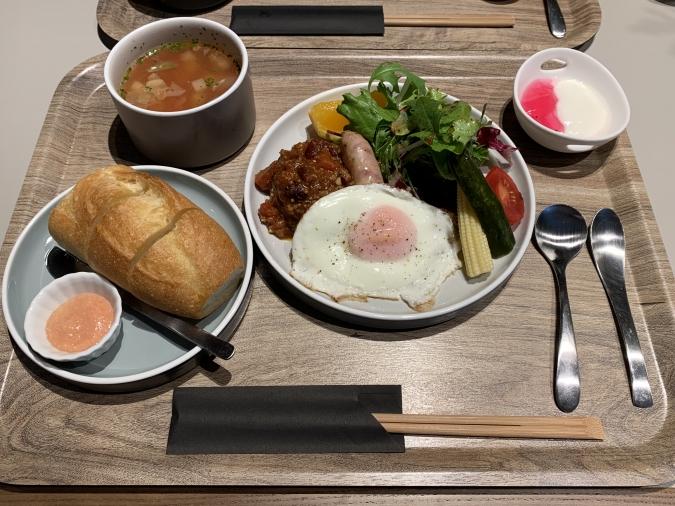 ホテル オリエンタル エクスプレス 福岡中洲川端 洋食の朝食