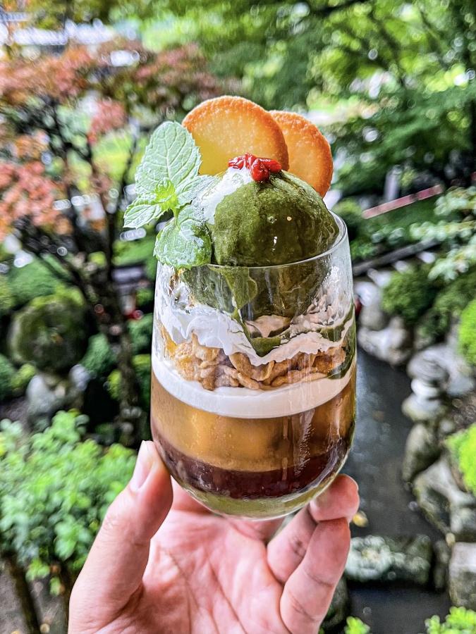 『お寺喫茶 楓』茶々パフェ