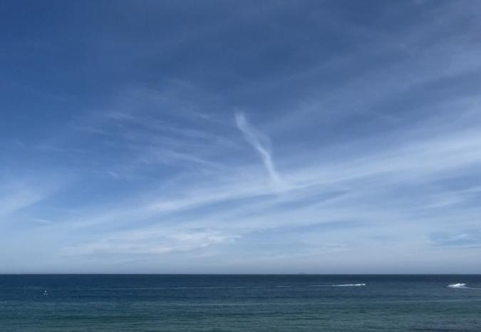 「絶景カフェ」から見える海