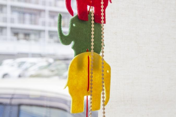 bakery ZOU(ベーカリー・ゾウ) 象のインテリア