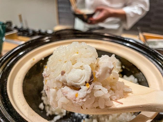 「熾火や 魚二(おきびやうおに)」鯛めし土鍋堪能御膳・鯛めしアップ
