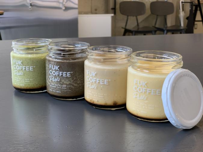 『FUK COFFEE(R)parks』テイクアウト用プリン4種