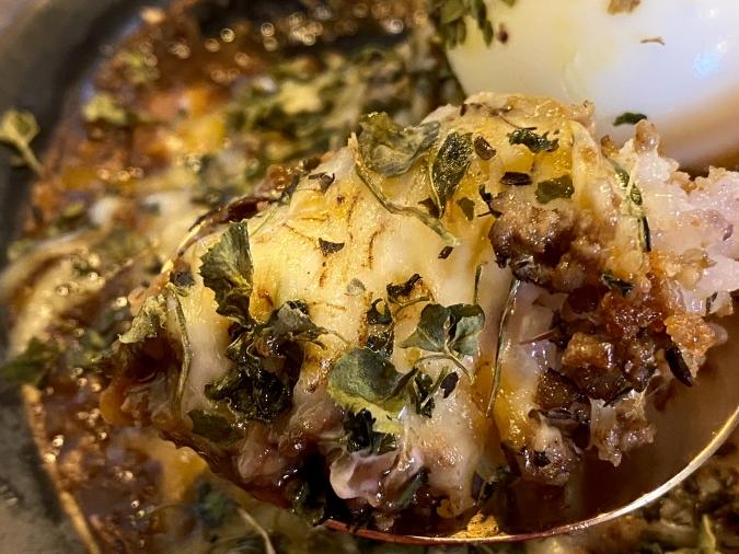 3SPOONカレー 鶏白湯とあご出汁のキーマカレー(チーズトッピング)