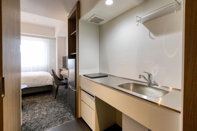 「グローカルホテル糸島」キッチン付きダブルルーム