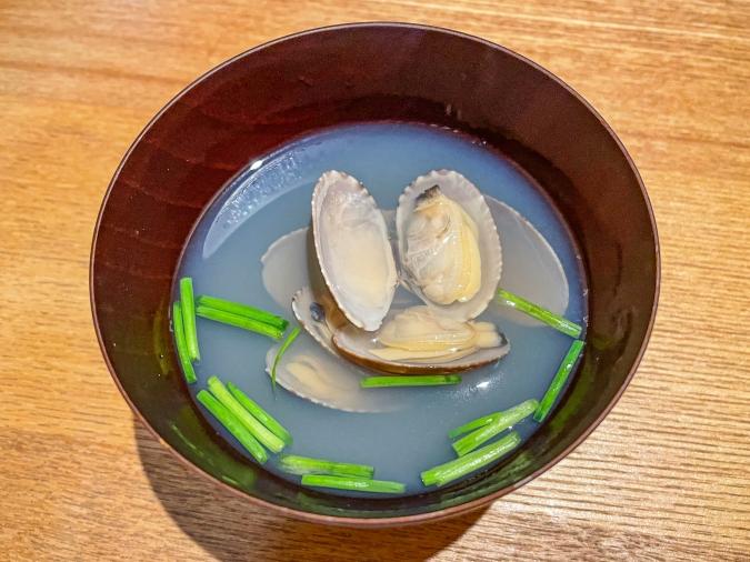 『炉ばた 髙』炙り手織り寿司・汁物