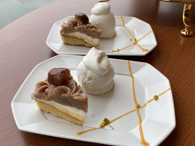QUON River terrace(クオンリバーテラス) Premium WAfternoon teaの〆の栗デザート