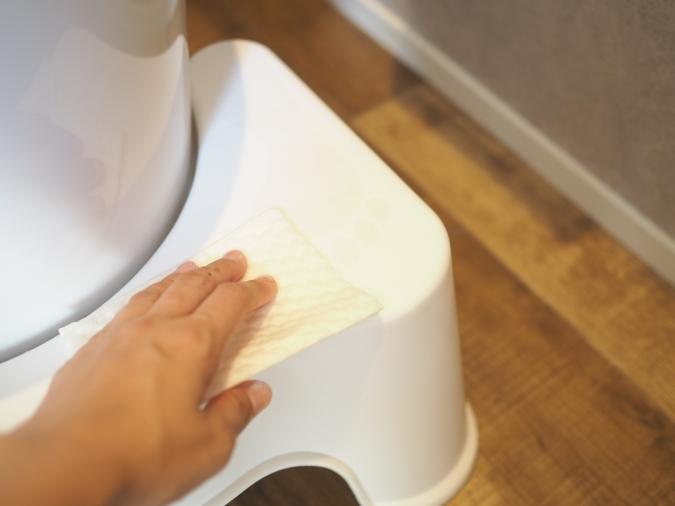 朝トイレに行くタイミングでサッと拭き掃除