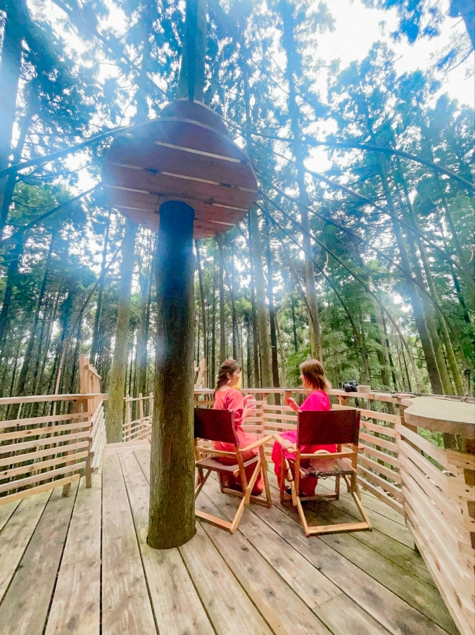『森のカフェ 緑の詩〜みどりのおと〜』ツリーハウステラス