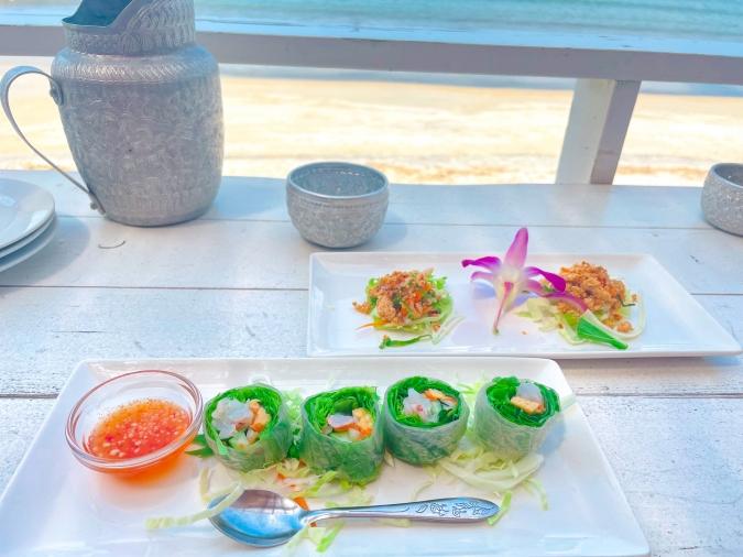 Duangjan(ドゥワンチャン) 前菜と生春巻き