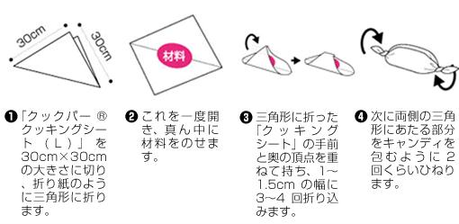クックパー包みの方法