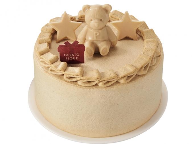 ジェラピケ・ブラウンベアのキャラメルケーキ