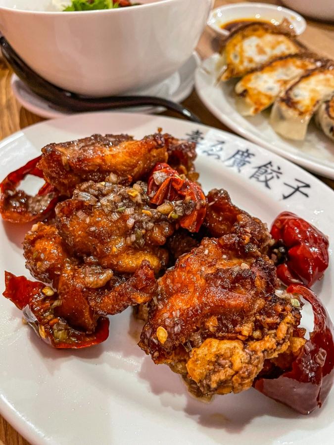 『壽ゑ廣 餃子』若鶏の朝天唐揚げ