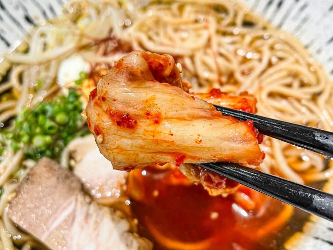 『焼肉 賀牛』別府冷麺キムチアップ
